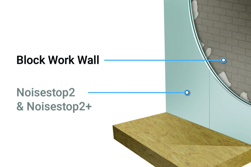 Installation of Noisestop2 and Noisestop2+ Wall panels