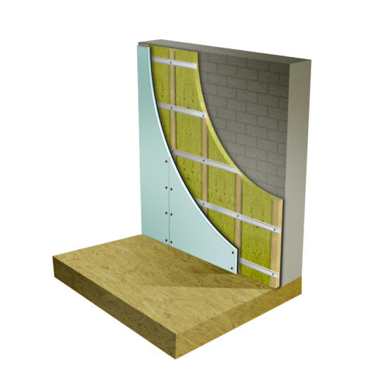Wall soundproofing System 1 soundproofing kit