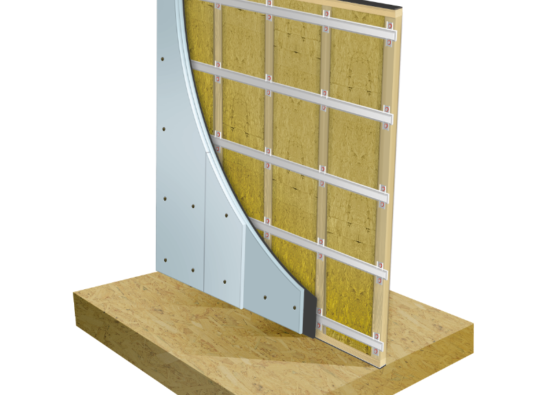 AcoustiClip Stud Wall System